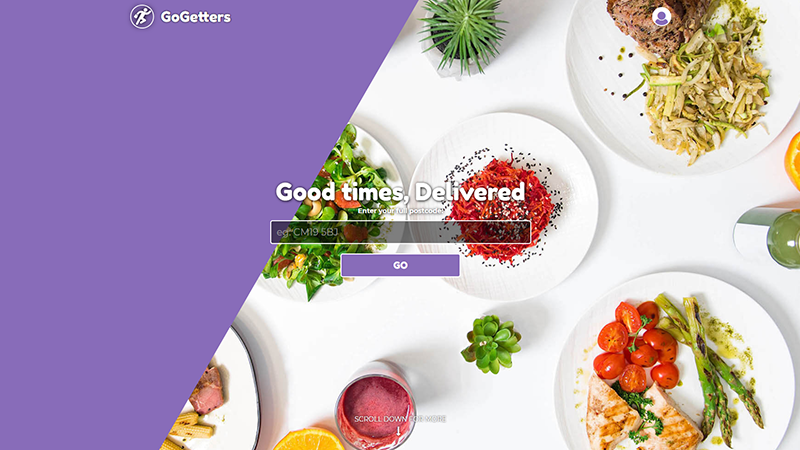 GoGetters website designed by EQ Creative