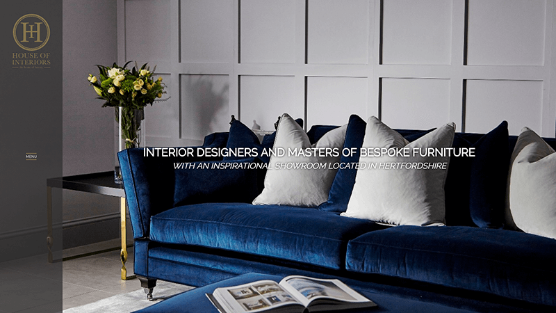 House of Interiors website designed by EQ Creative